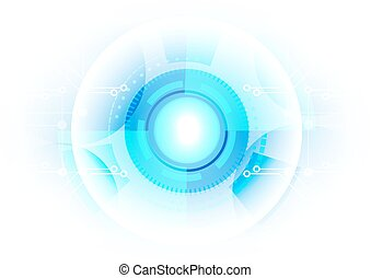abstract technology circle with circuit background