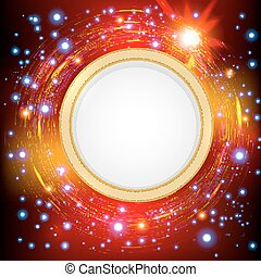 Abstract technology circles  background.