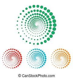 Abstract technology circles sign