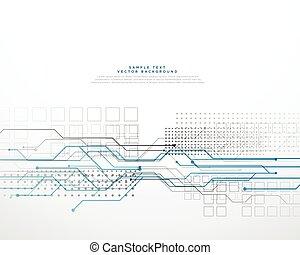 abstract technology circuid high tech computer network background