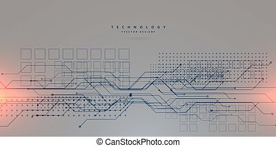 abstract technology circuit lines gray background design