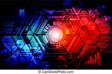 Abstract technology concept background. vector illustration