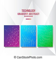 Abstract technology cover background