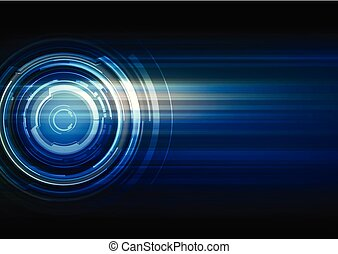 Abstract technology dark blue background
