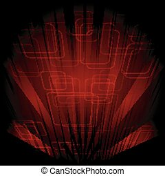 Abstract technology dark red