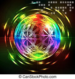 Abstract technology fantasy sphere  background.