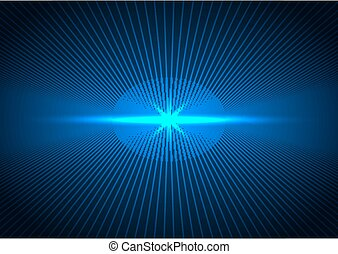 Abstract technology futuristic concept lines connection perspective with lighting blue of future on dark blue background.