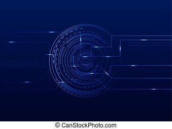Abstract technology futuristic digital background vector illustration