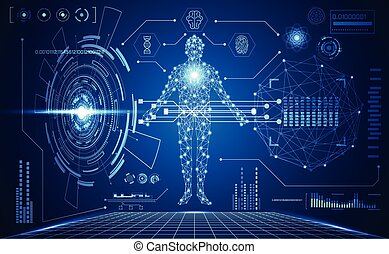 abstract technology futuristic human medical interface