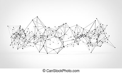 Abstract technology futuristic network - plexus background