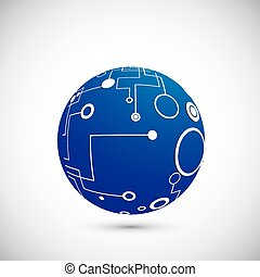 Abstract technology globe
