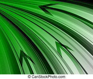 Abstract technology green background.