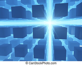 Abstract Technology Grid Background