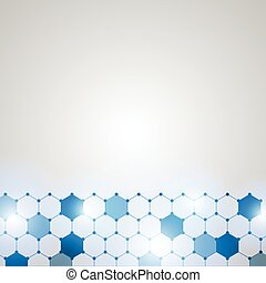 Abstract Technology hexagon background-2