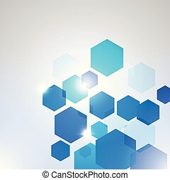 Abstract Technology hexagon background-5