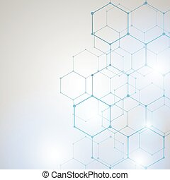 Abstract Technology hexagon background
