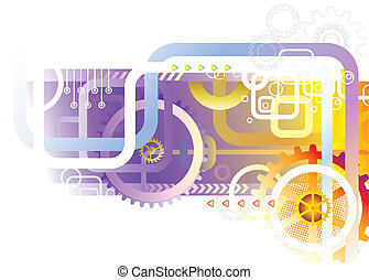 Abstract Technology industrial background vector...
