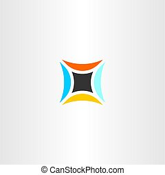 abstract technology logo star icon vector