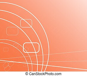 abstract technology on blue  background
