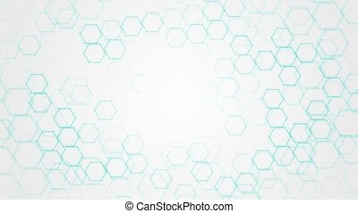 Abstract technology or medical background with hexagon pattern Loop Background. Shape of hexagonal grid. Concepts ideas for healthcare technology, innovation medicine, health, science Presentation