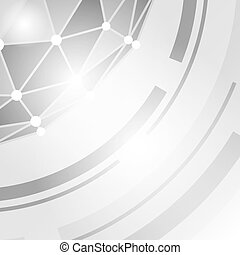 Abstract technology polygonal  background.