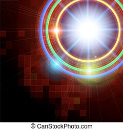 Abstract technology shining circle background.