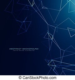 abstract technology style background with blue lights