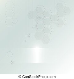 Abstract technology vector background with hexagon shape
