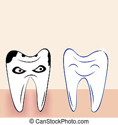 Abstract teeth cartoon dental background