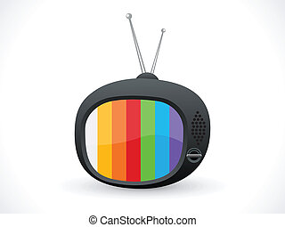 abstract television icon vector illustration
