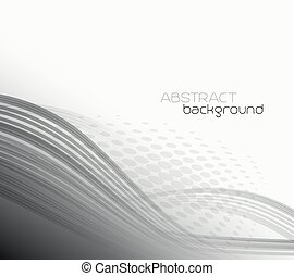 Abstract template background with curved wave.