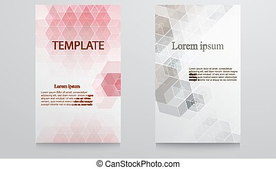 Abstract template design-colorful geometric triangular backgrounds.