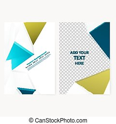 Abstract  template geometric flyer