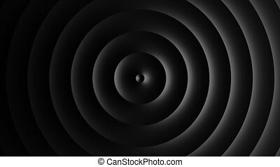 Abstract template with animation of dark circular waves. Background for your presentation. Seamless loop 4k 60 fps video. 3D illustration