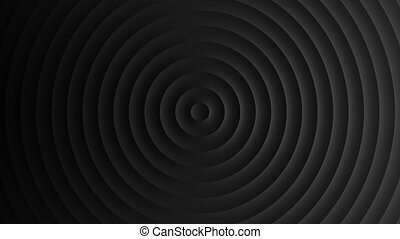 Abstract template with animation of white circular waves. ...