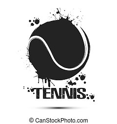 Abstract tennis ball icon