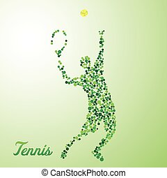 Abstract tennis player kicking the ball - Abstract tennis...