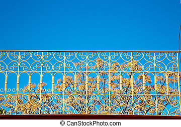 abstract terrace in morocco the sky