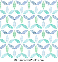 Abstract textile blue green leaves seamless pattern background