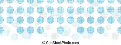 Abstract textile blue polka dots stripes horizontal seamless pattern background