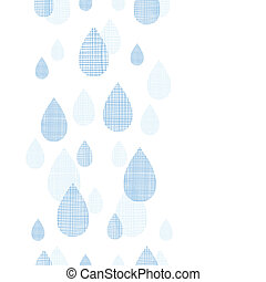 Abstract textile blue rain drops vertical seamless pattern...