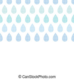 Abstract textile blue rain drops stripes horizontal seamless pattern background
