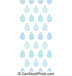 Abstract textile blue rain drops stripes vertical seamless pattern background