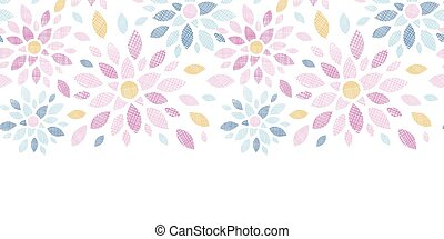 Abstract textile colorful flowers horizontal seamless...