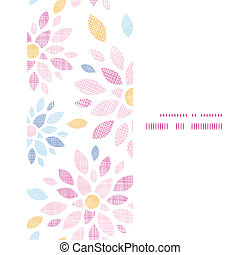 Abstract textile colorful flowers vertical frame seamless...