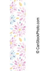 Abstract textile colorful flowers vertical border seamless...