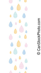 Abstract textile colorful rain drops vertical seamless pattern background