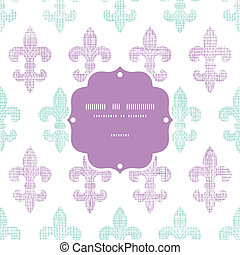 Abstract textile fleur de lis stripes frame seamless pattern...