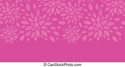 Abstract textile flowers pink horizontal seamless pattern...