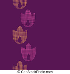 Abstract textile geometric tulips stripes vertical seamless pattern background